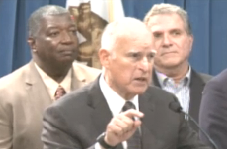 Gov. Jerry Brown announces wage deal.