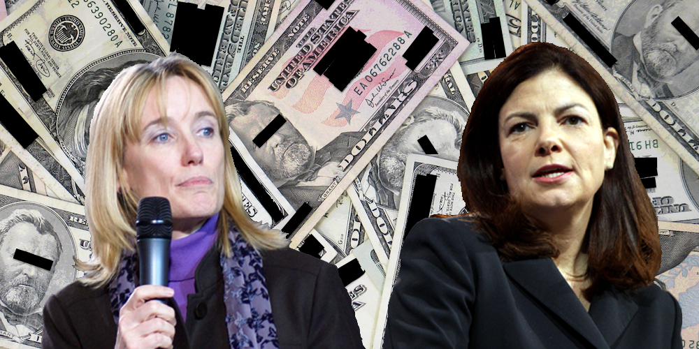 Maggie Hassan (left), and Sen. Kelly Ayotte (irhg) are battling for the open Senate seat in New Hampshire. Photos (CC): Marc Nozell, and Gage Skidmore altered by Reclaim.