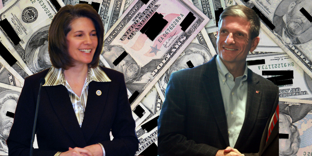 Republicans pin high hopes on Joe Heck (r) beating Catherine Cortez Masto (l) in Nevada. Photos (CC): The Leadership Conference, and Gage Skidmore altered by Reclaim.