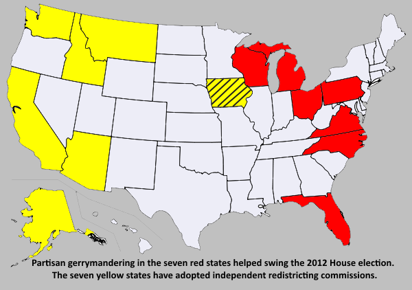 gerrymandering map with text