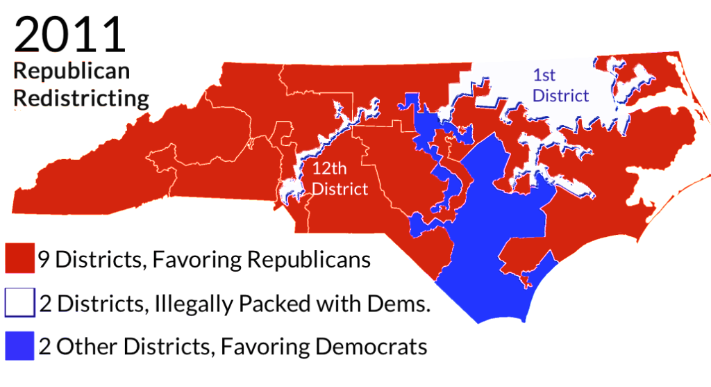 Map_North_Carolina_Districts_Gerrymander_Reform_Ruling_2016_