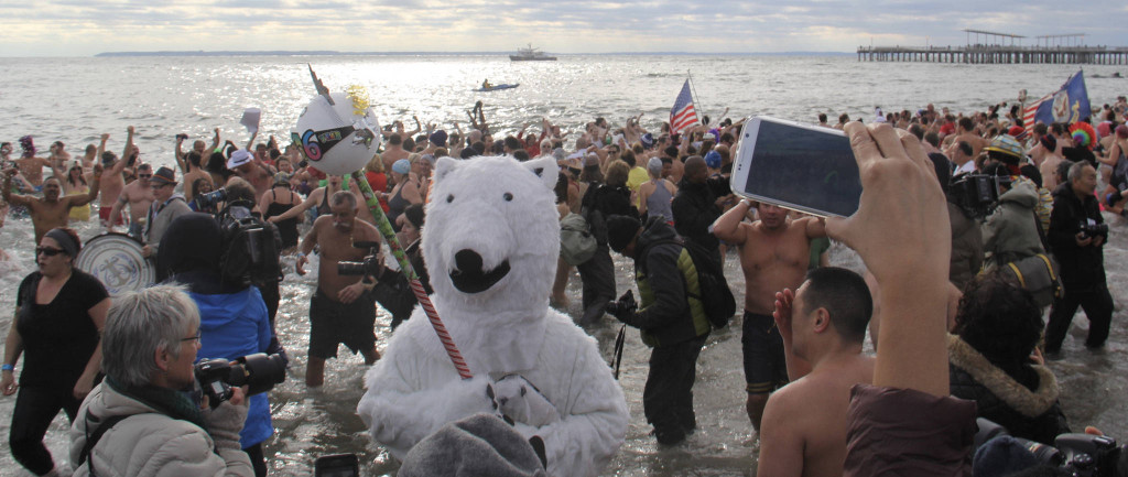 In the 2016 New Years Day Polar Bear Plunge, New Yorkers flock to Coney Island