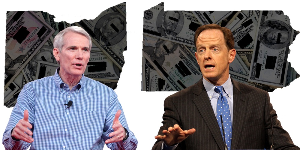 Portman and Toomey, in Super PAC states