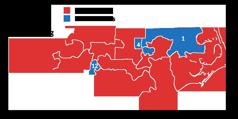 Map of North Carolina 2016 Redistricting Gerrymandering
