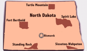 North Dakota Tribal ID Map